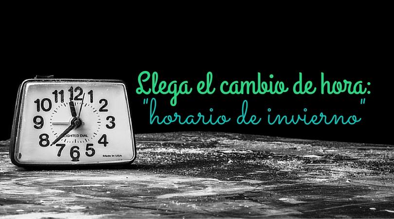 Llega el cambio de hora-