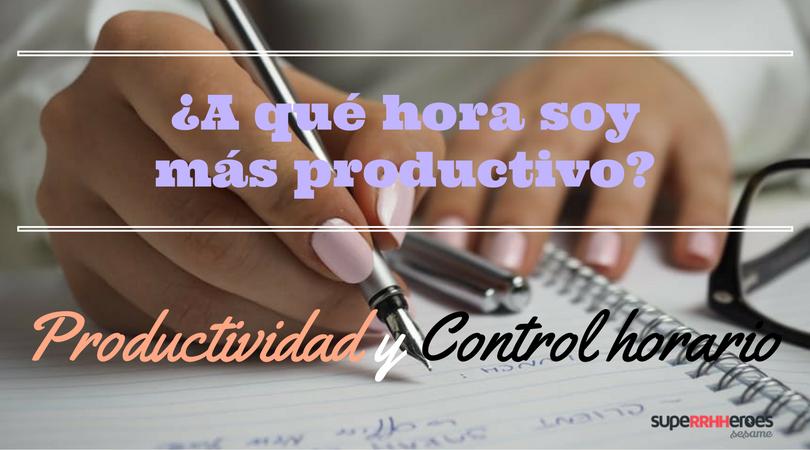 Productividad y control horario