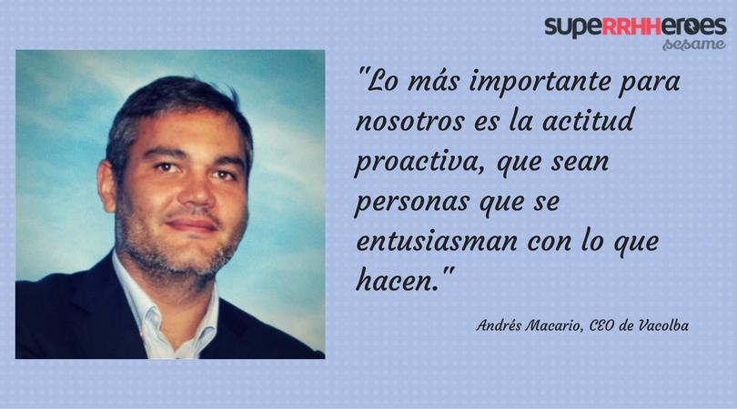 """Andrés Macario: """"La clave del éxito ha sido el compromiso hasta el final con los objetivos de nuestros partners."""""""