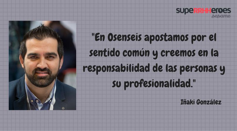 """Iñaki González: """"Sé tú en todo momento y utiliza siempre el sentido común."""""""