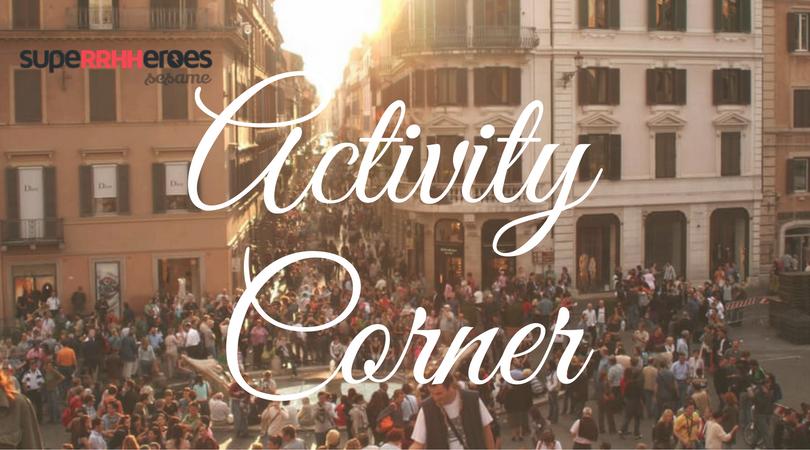 Activity corner: encuentro entre profesionales
