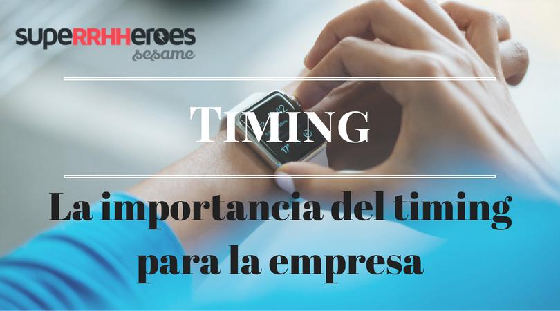 Timing y éxito empresarial