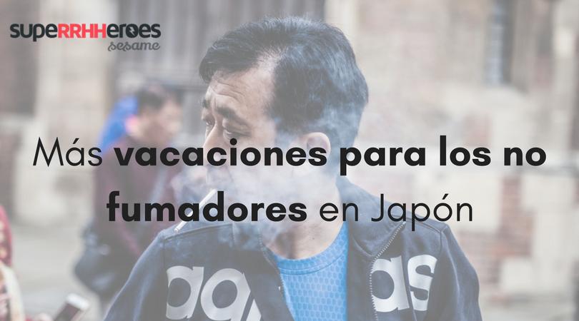 Más vacaciones para los no fumadores en Japón
