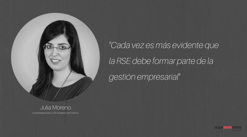 """Julia Moreno: """"Si una empresa no responde a las necesidades de sus grupos de interés se reduce mucho su supervivencia en el largo plazo."""""""