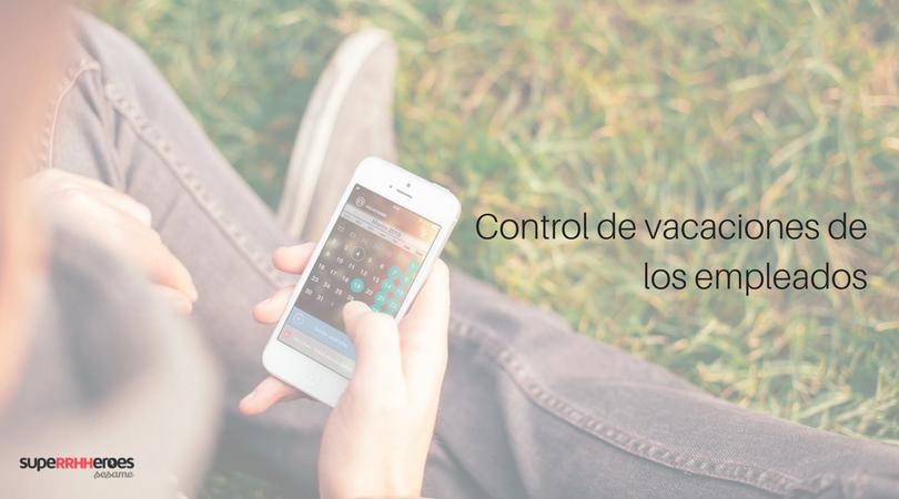 control de vacaciones