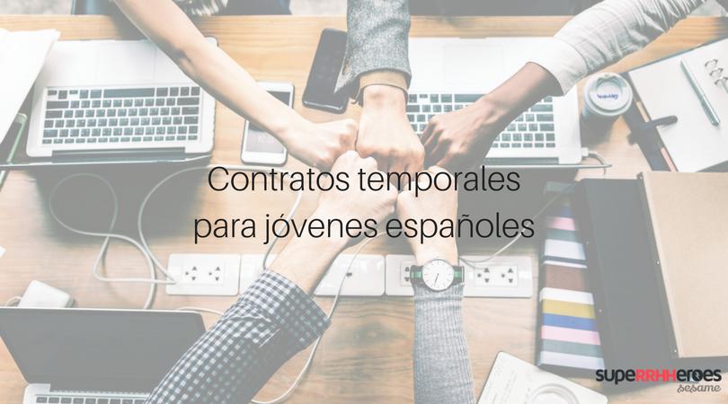 Contrato temporal para jóvenes españoles