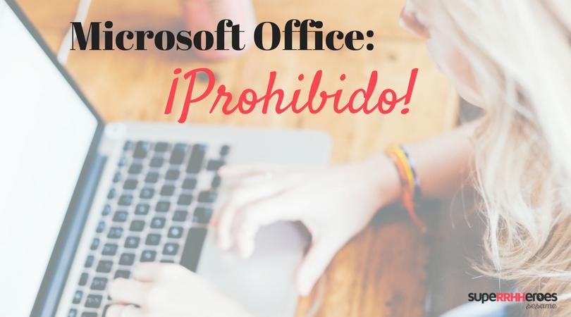 Incluir Microsoft Office y otros errores en el currículum