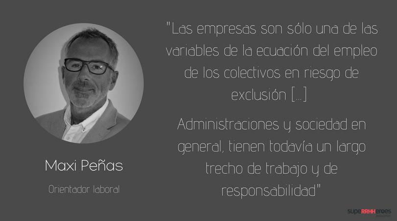 """Maxi Peñas:  """"Se ha de tener en cuenta a cada persona como ser individual, huyendo de formatos encapsulados"""""""