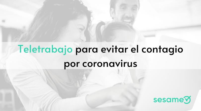 Teletrabajo y coronavirus